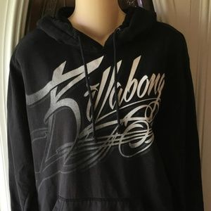 Billabong Black Logo Hoodie Size Medium